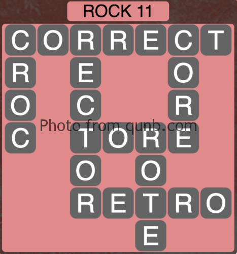 Wordscapes Rock 11 (Level 747) Answers