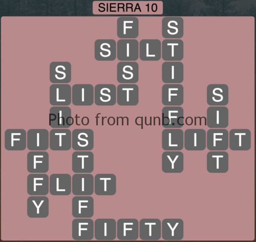 Wordscapes Sierra 10 (Level 762) Answers