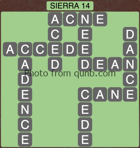 Wordscapes Sierra 14 (Level 766) Answers