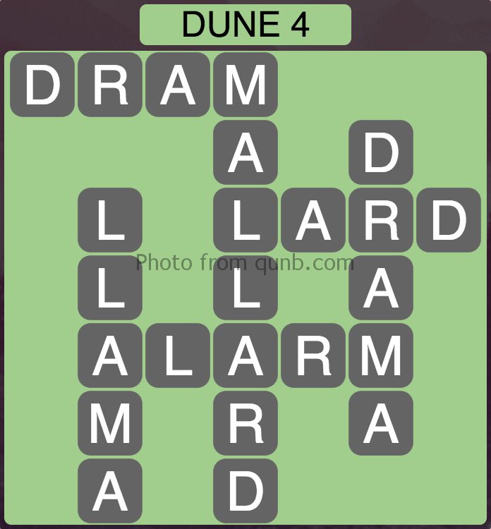 Wordscapes Dune 4 (Level 772) Answers