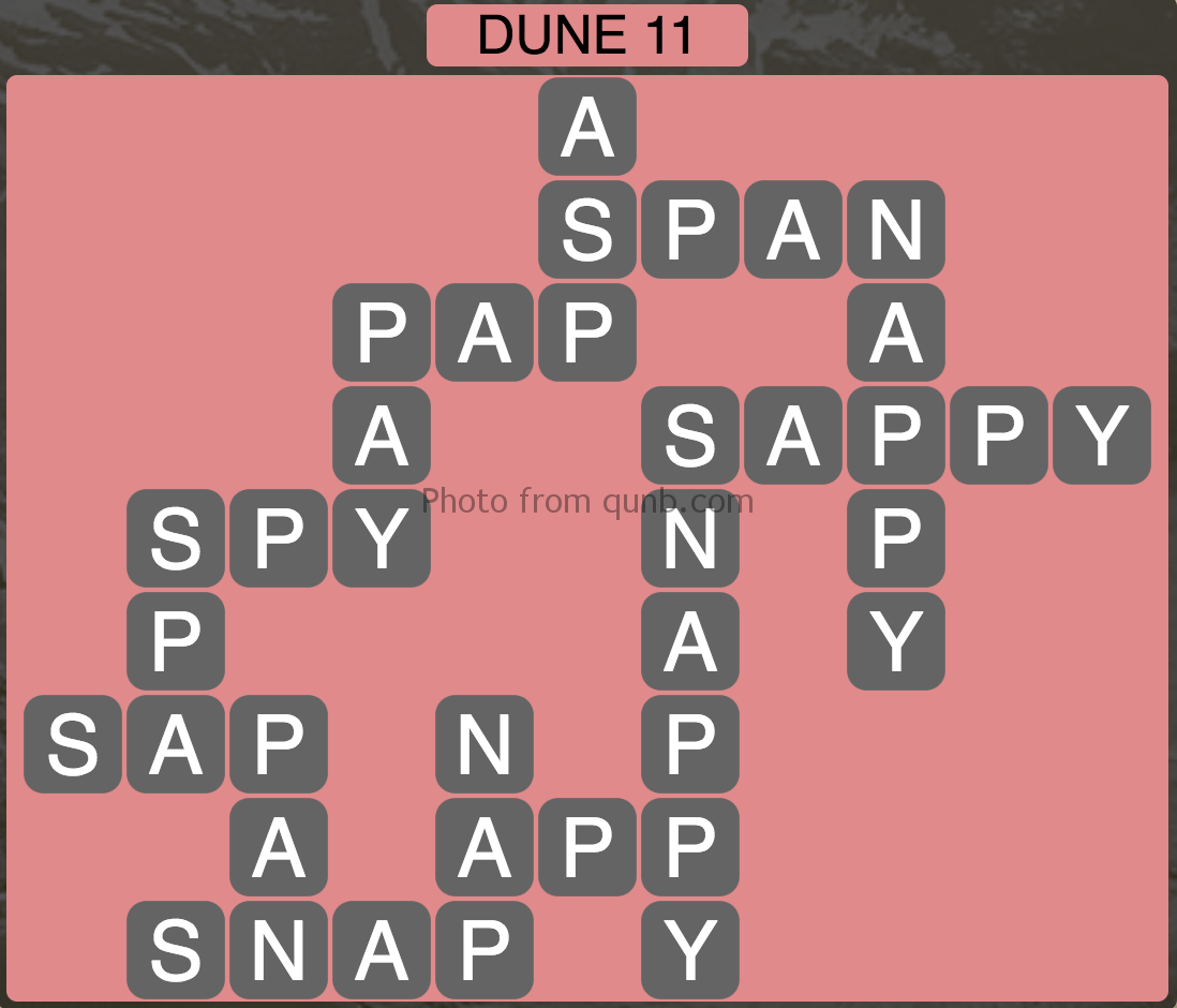 Wordscapes Dune 11 (Level 779) Answers