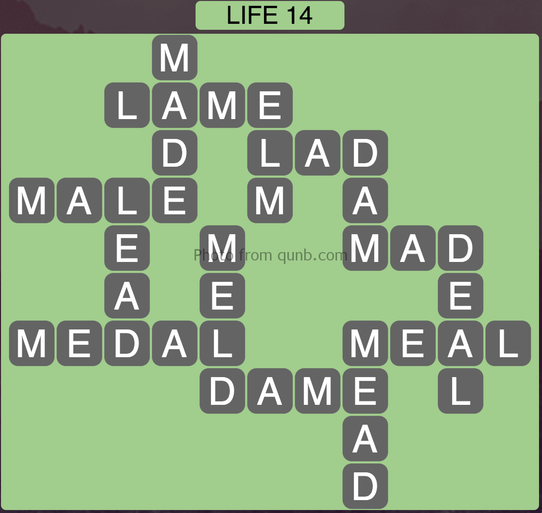 Wordscapes Level 78 (Life 14) Answer