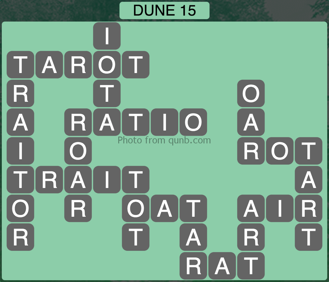 Wordscapes Dune 15 (Level 783) Answers