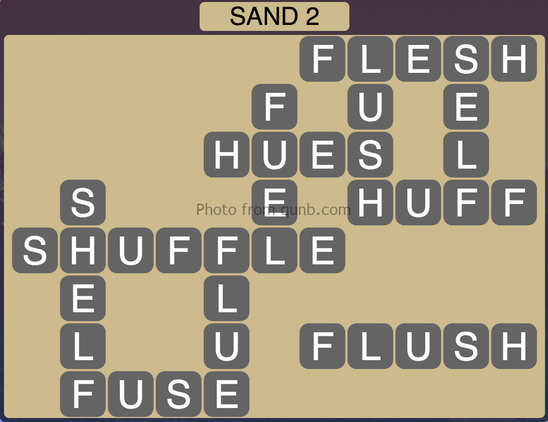 Wordscapes Sand 2 (Level 786) Answers