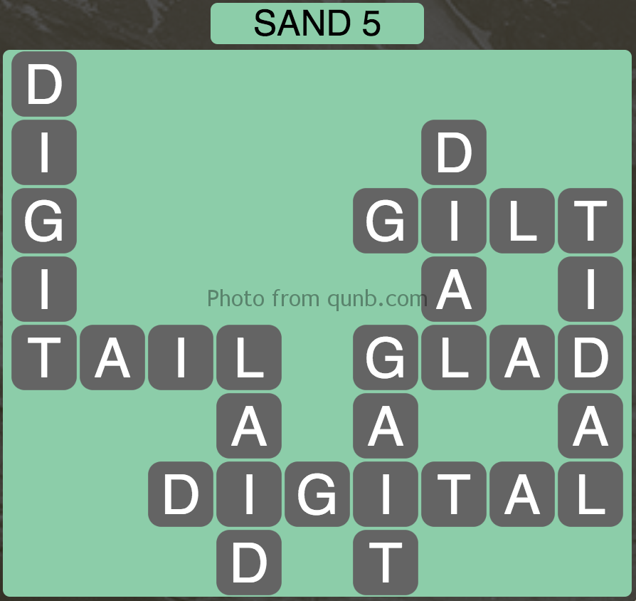 Wordscapes Sand 5 (Level 789) Answers
