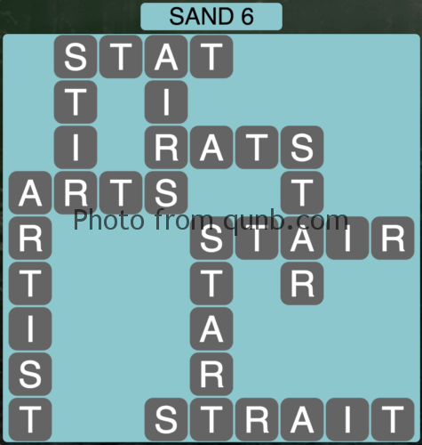 Wordscapes Sand 6 (Level 790) Answers
