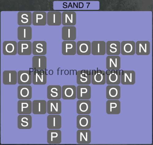 Wordscapes Sand 7 (Level 791) Answers