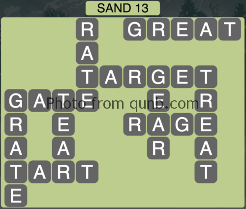 Wordscapes Sand 13 (Level 797) Answers