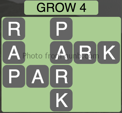Wordscapes Grow 4 (Level 8) Answer and Cheat