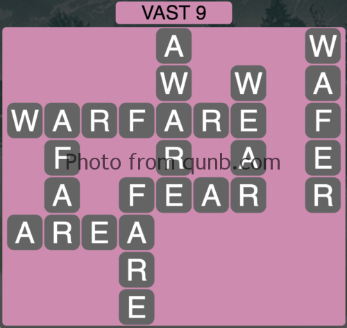 Wordscapes Vast 9 (Level 809) Answers