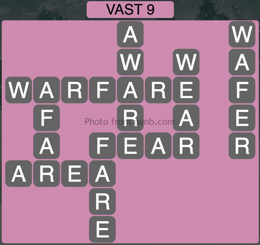 Wordscapes Vast 9 (Level 809) Answers