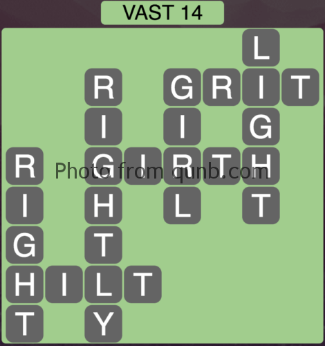 Wordscapes Vast 14 (Level 814) Answers
