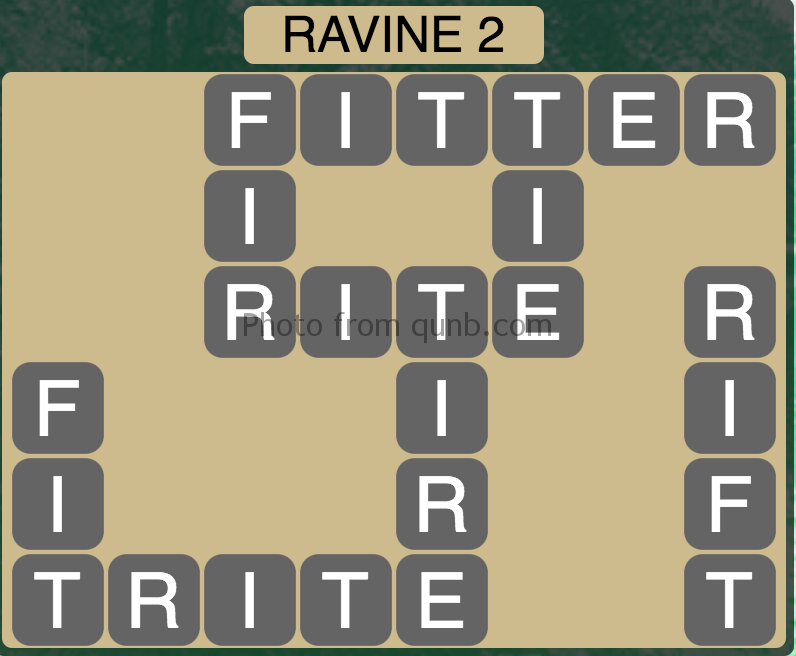 Wordscapes Level 82 (Ravine 2) Answer