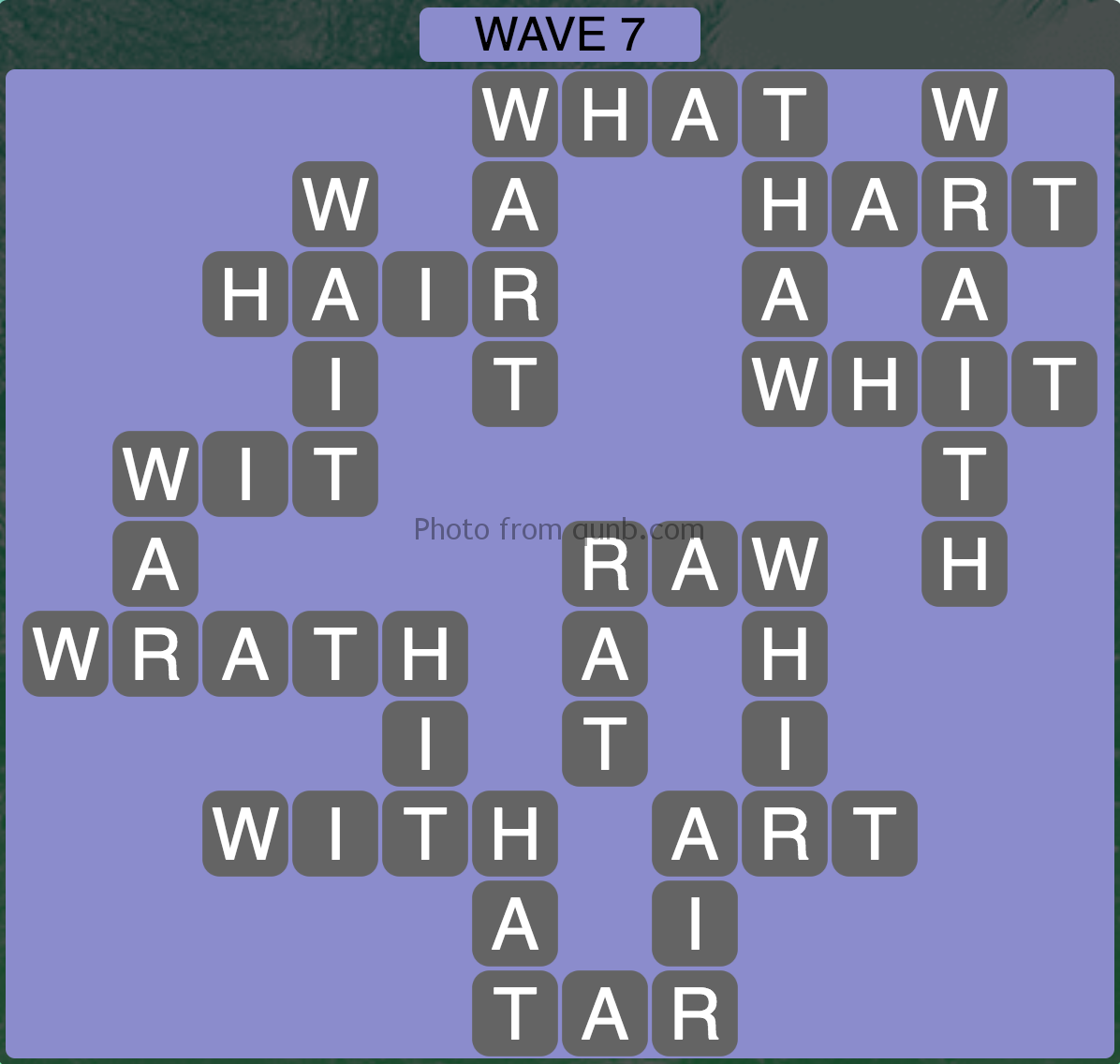 Wordscapes Wave 7 (Level 823) Answers