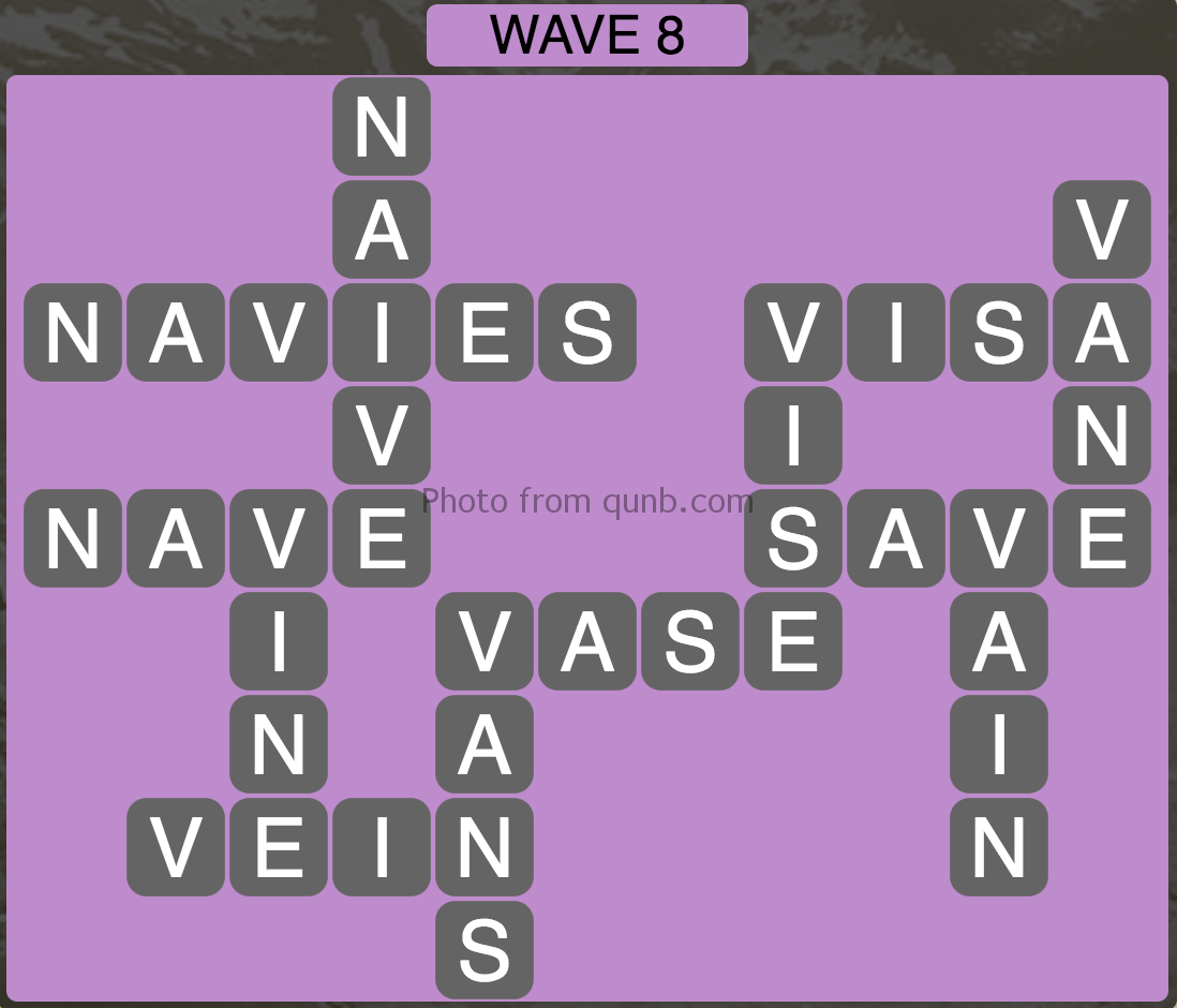 Wordscapes Wave 8 (Level 824) Answers