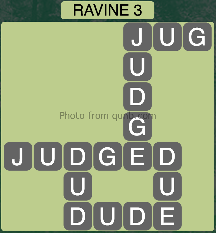 Wordscapes Level 83 (Ravine 3) Answer