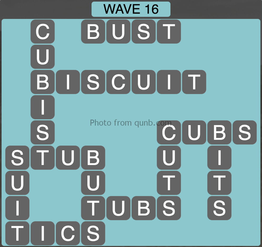 Wordscapes Wave 16 (Level 832) Answers