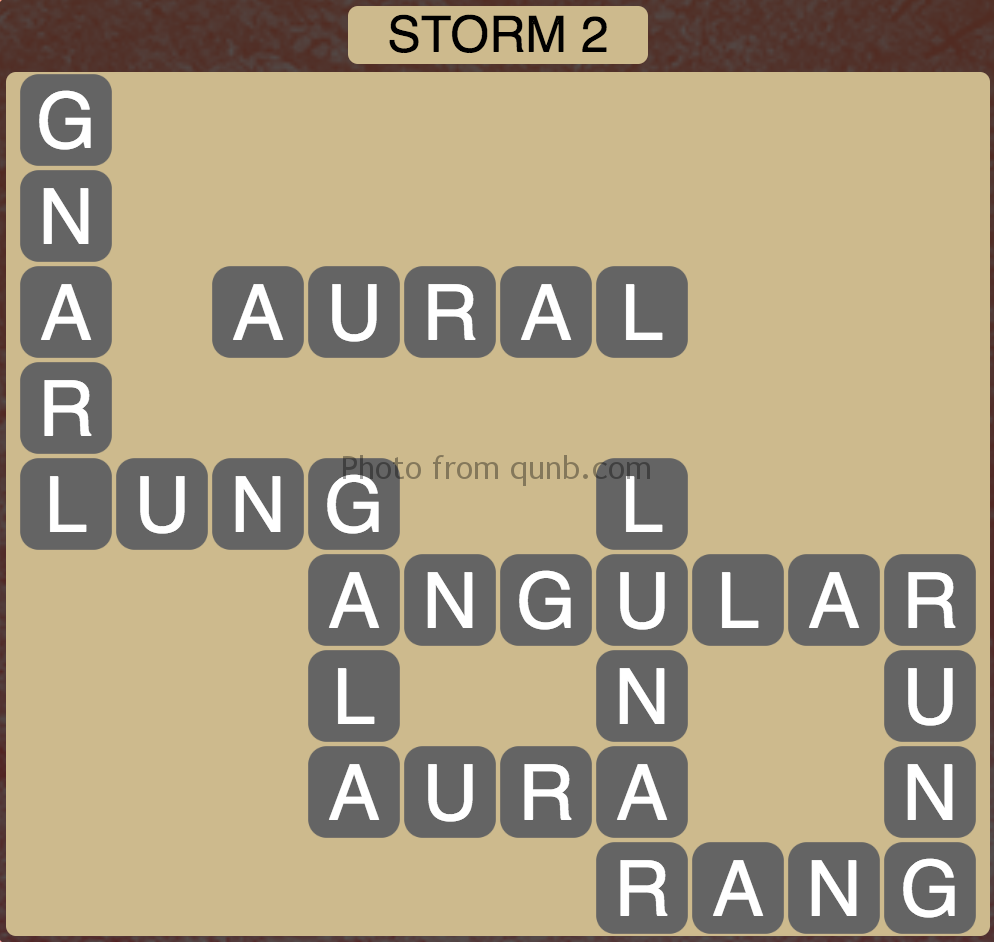 Wordscapes Storm 2 (Level 834) Answers