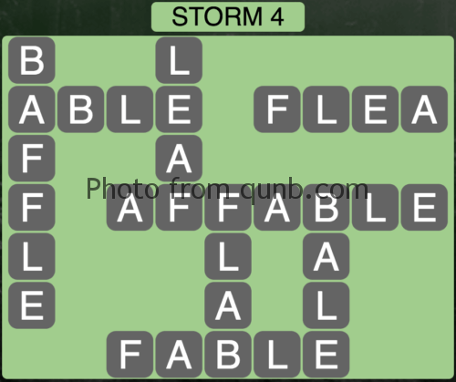 Wordscapes Storm 4 (Level 836) Answers