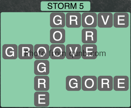 Wordscapes Storm 5 (Level 837) Answers