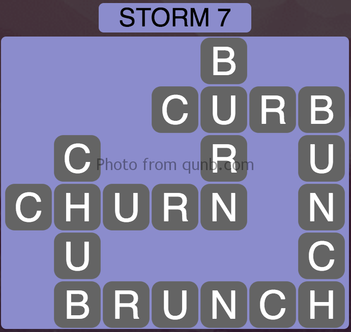 Wordscapes Storm 7 (Level 839) Answers