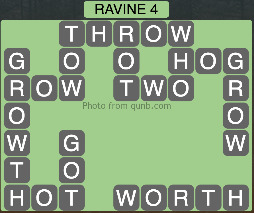 Wordscapes Level 84 (Ravine 4) Answer