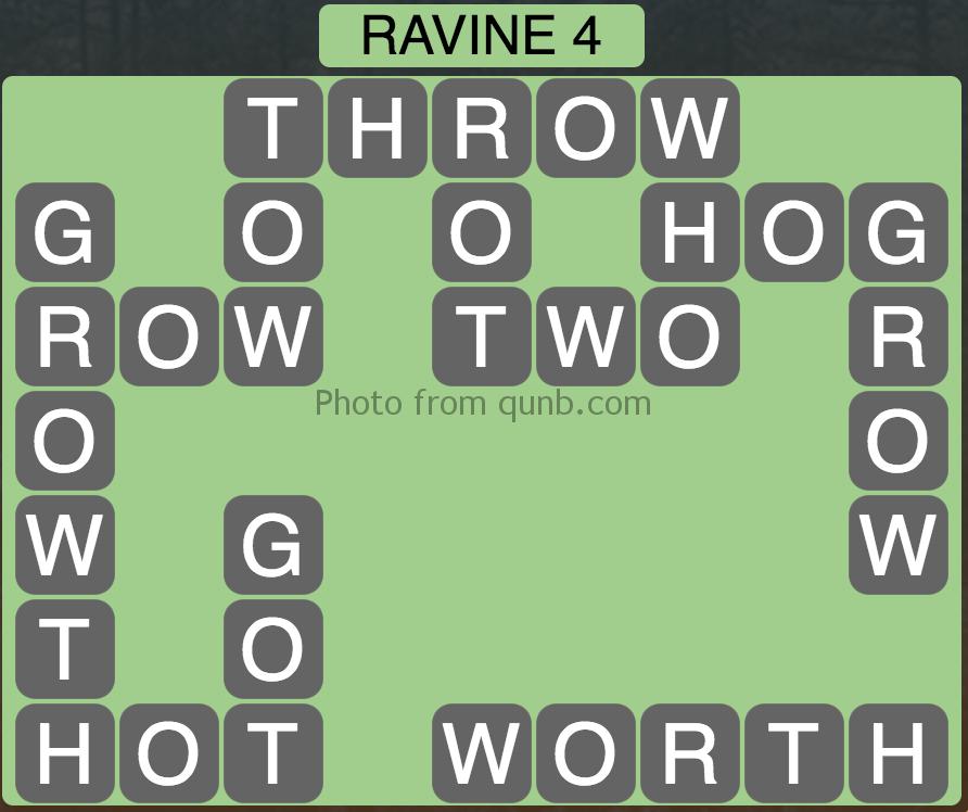 Wordscapes Level 84 (Ravine 4) Answer