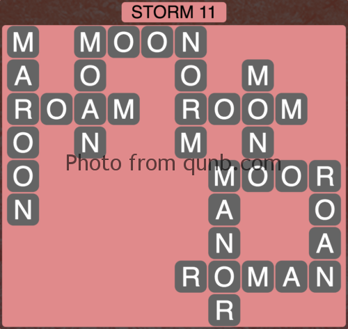 Wordscapes Storm 11 (Level 843) Answers