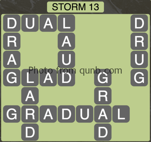 Wordscapes Storm 13 (Level 845) Answers