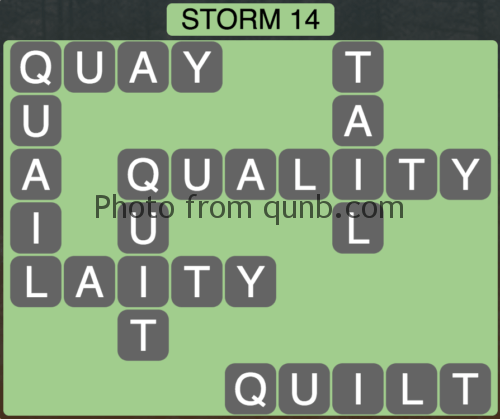Wordscapes Storm 14 (Level 846) Answers