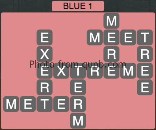Wordscapes Blue 1 (Level 849) Answers