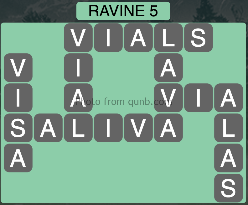 Wordscapes Level 85 (Ravine 5) Answer