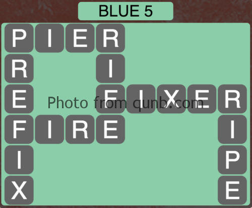 Wordscapes Blue 5 (Level 853) Answers