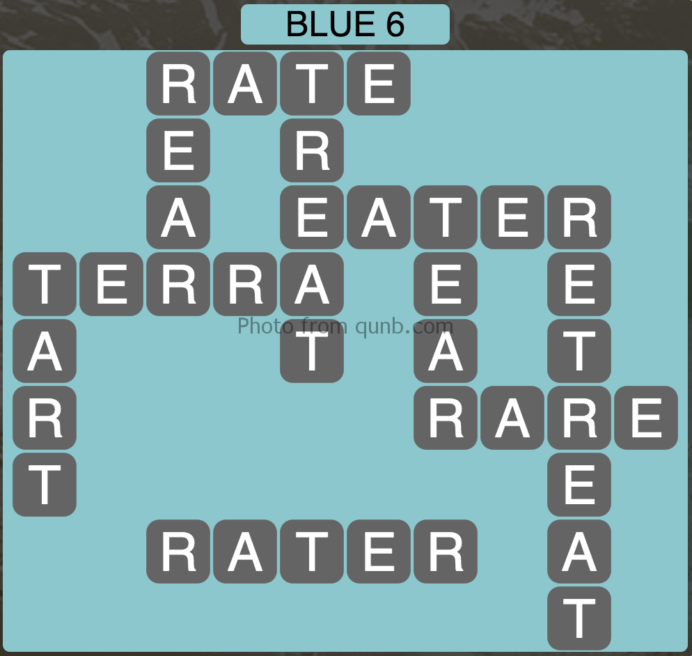 Wordscapes Blue 6 (Level 854) Answers