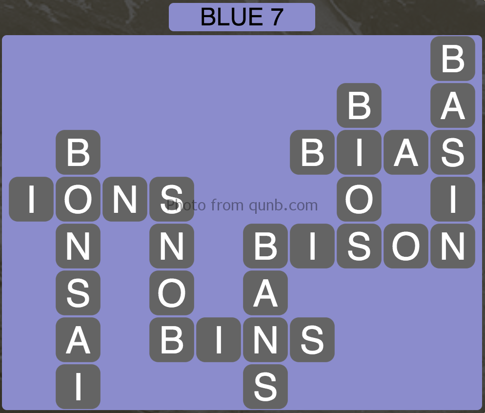 Wordscapes Blue 7 (Level 855) Answers