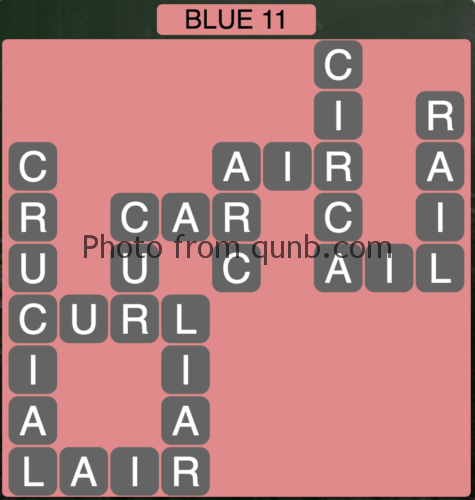 Wordscapes Blue 11 (Level 859) Answers