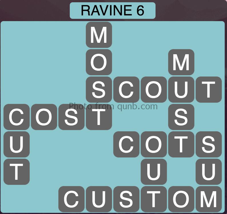 Wordscapes Level 86 (Ravine 6) Answer
