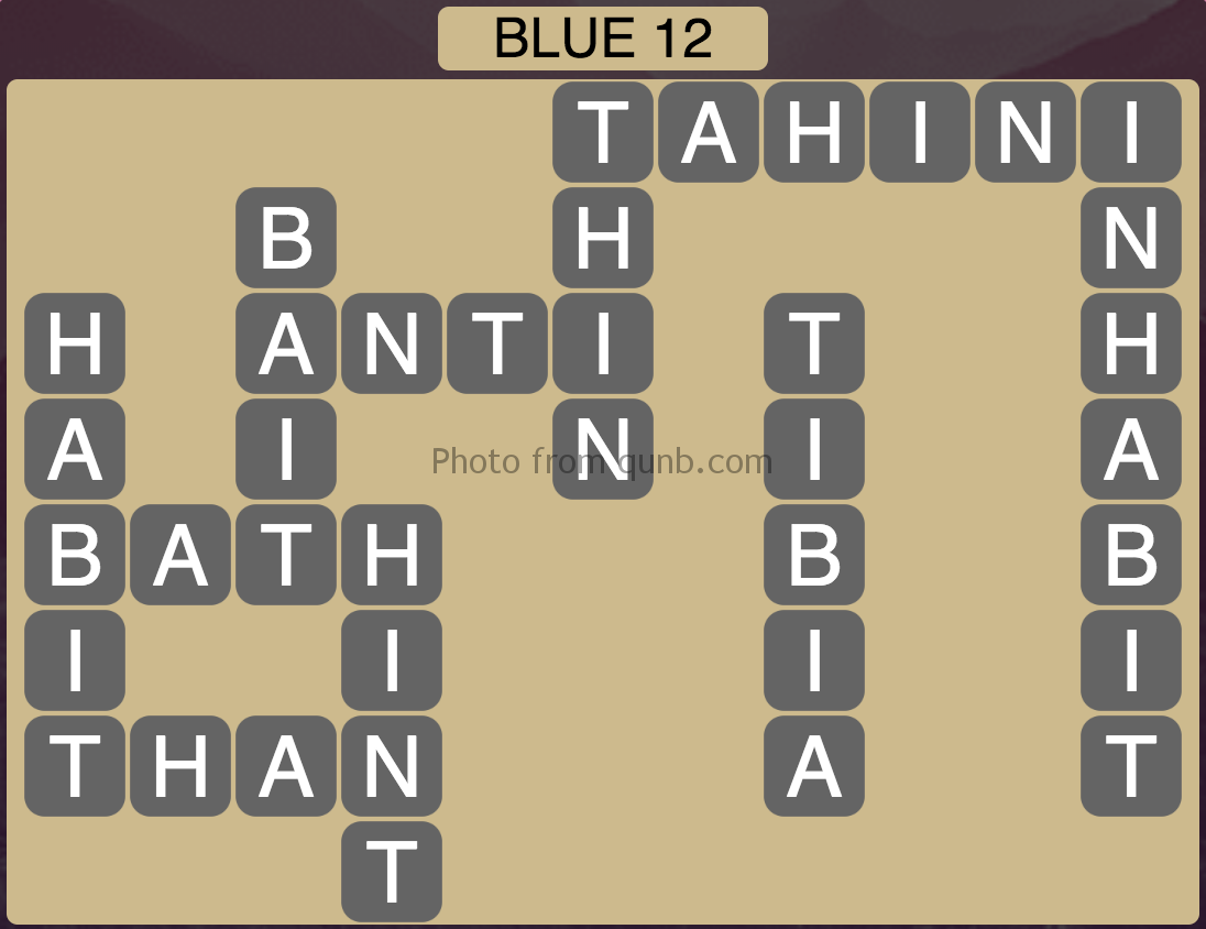 Wordscapes Blue 12 (Level 860) Answers