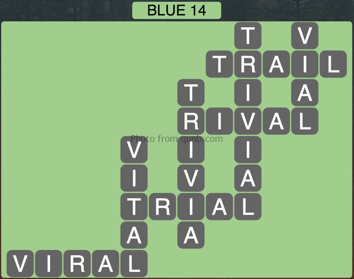 Wordscapes Blue 14 (Level 862) Answers