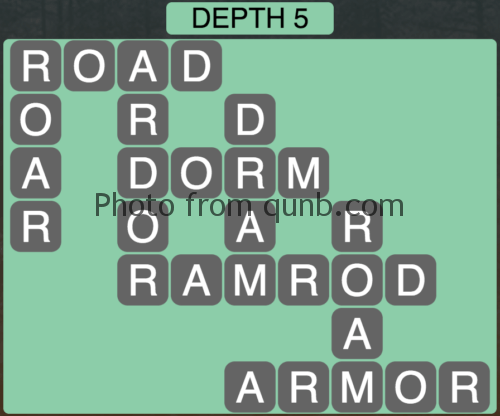 Wordscapes Depth 5 (Level 869) Answers