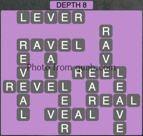 Wordscapes Depth 8 (Level 872) Answers