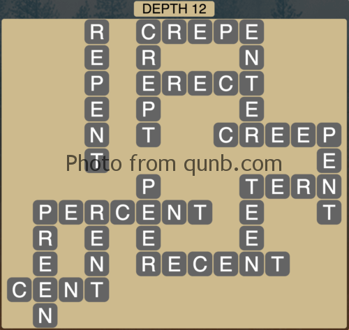 Wordscapes Depth 12 (Level 876) Answers