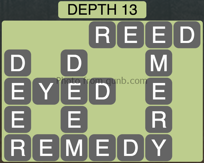 Wordscapes Depth 13 (Level 877) Answers