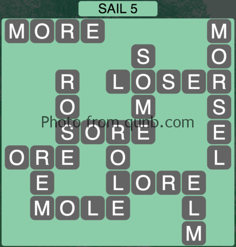 Wordscapes Sail 5 (Level 885) Answers