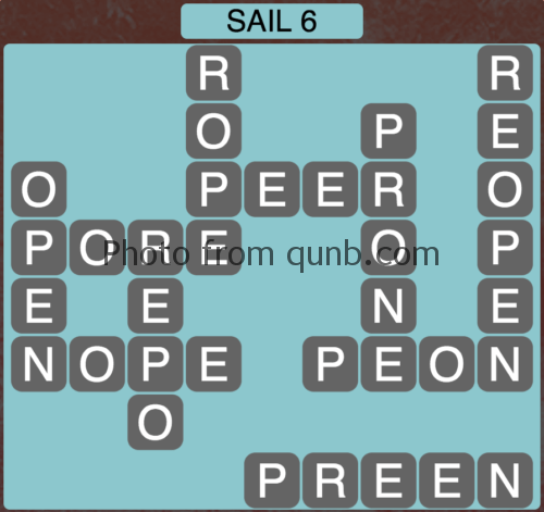 Wordscapes Sail 6 (Level 886) Answers