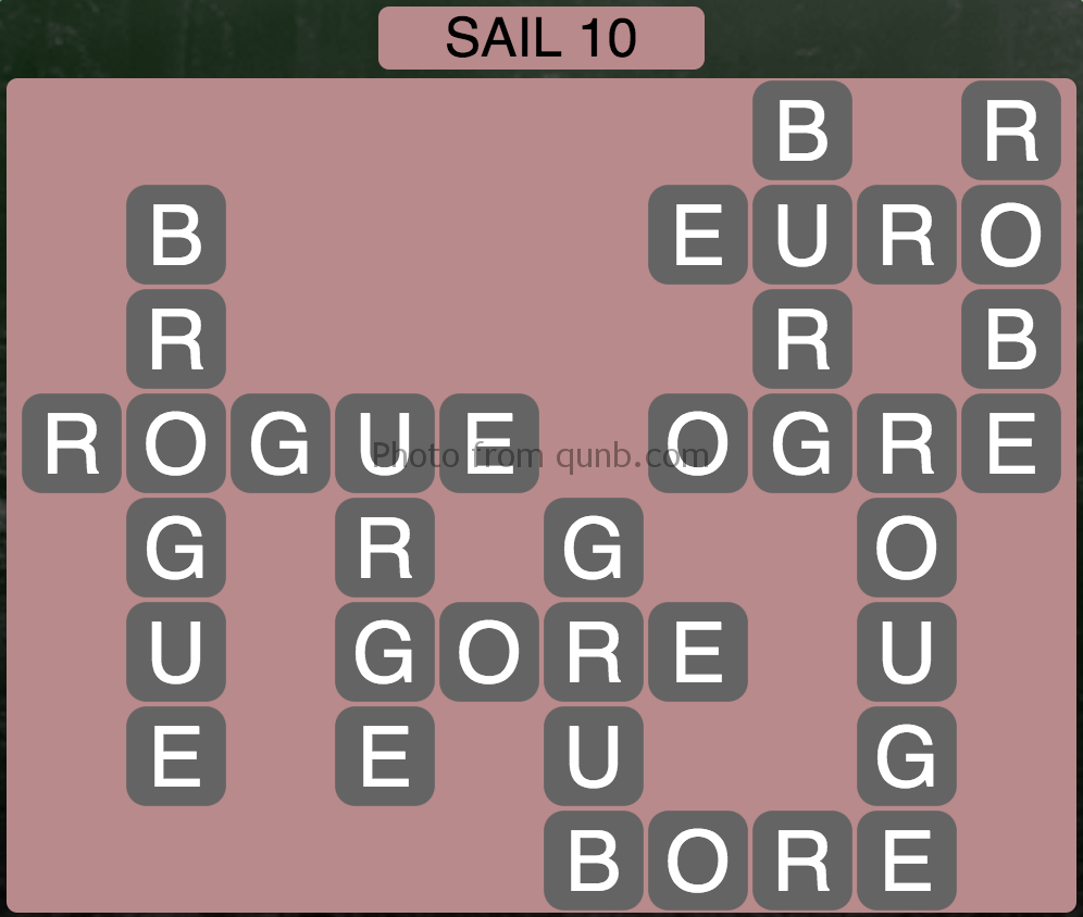 Wordscapes Sail 10 (Level 890) Answers