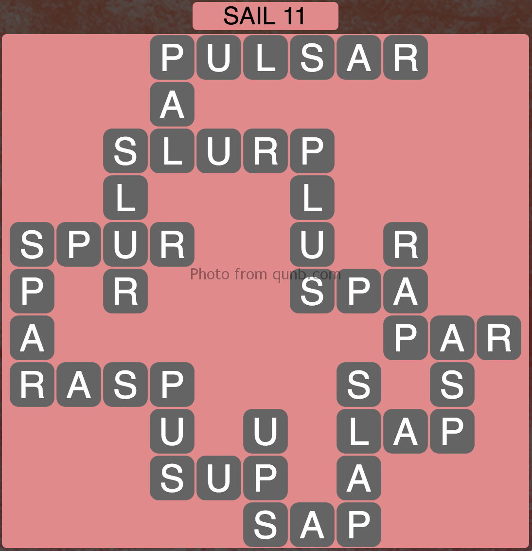 Wordscapes Sail 11 (Level 891) Answers