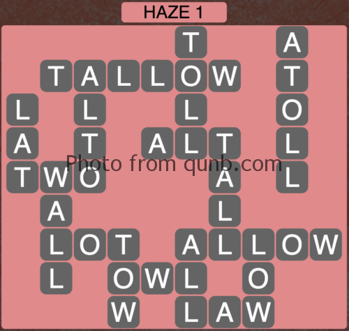 Wordscapes Haze 1 (Level 897) Answers