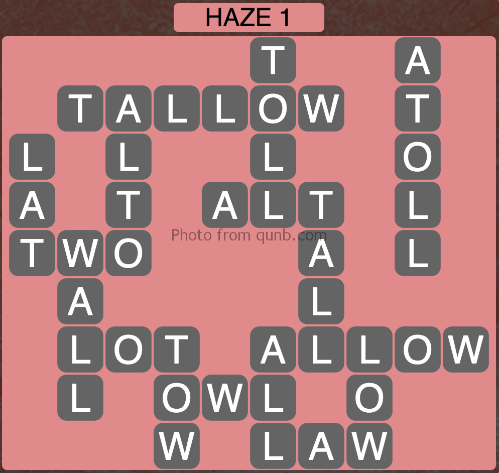 Wordscapes Haze 1 (Level 897) Answers