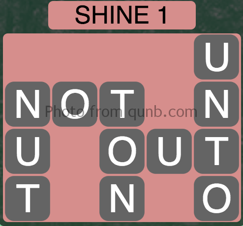 Wordscapes Shine 1 (Level 9) Answer and Cheat